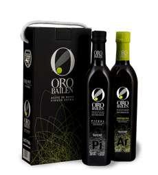 olio d'oliva extravergine Oro Bailen.Estuche 2 botellas 750 ml.