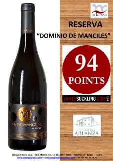Vino rosso Dominio de Manciles, Reserva